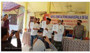 Foto: Calon Kepala Desa Jambu, No urut 1 H. Benny Wahyudi, Nomor urut 2 Faisal Hendari, Nomor urut 3 Imam Zarkasi.