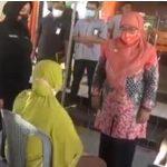 Foto:Seorang ibu-ibu viral saat marahi Wabup Sumenep, Dewi Khalifah. (Istimewa)