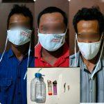 Foto: Tiga Tersangka Penyalahgunaan Narkoba Yang Diamankan Polsek Ganding Yang Salah Satunya Diduga Kuat Merupakan Perangkat Desa Gadu Barat, Kecamatan Ganding. (istimewa)